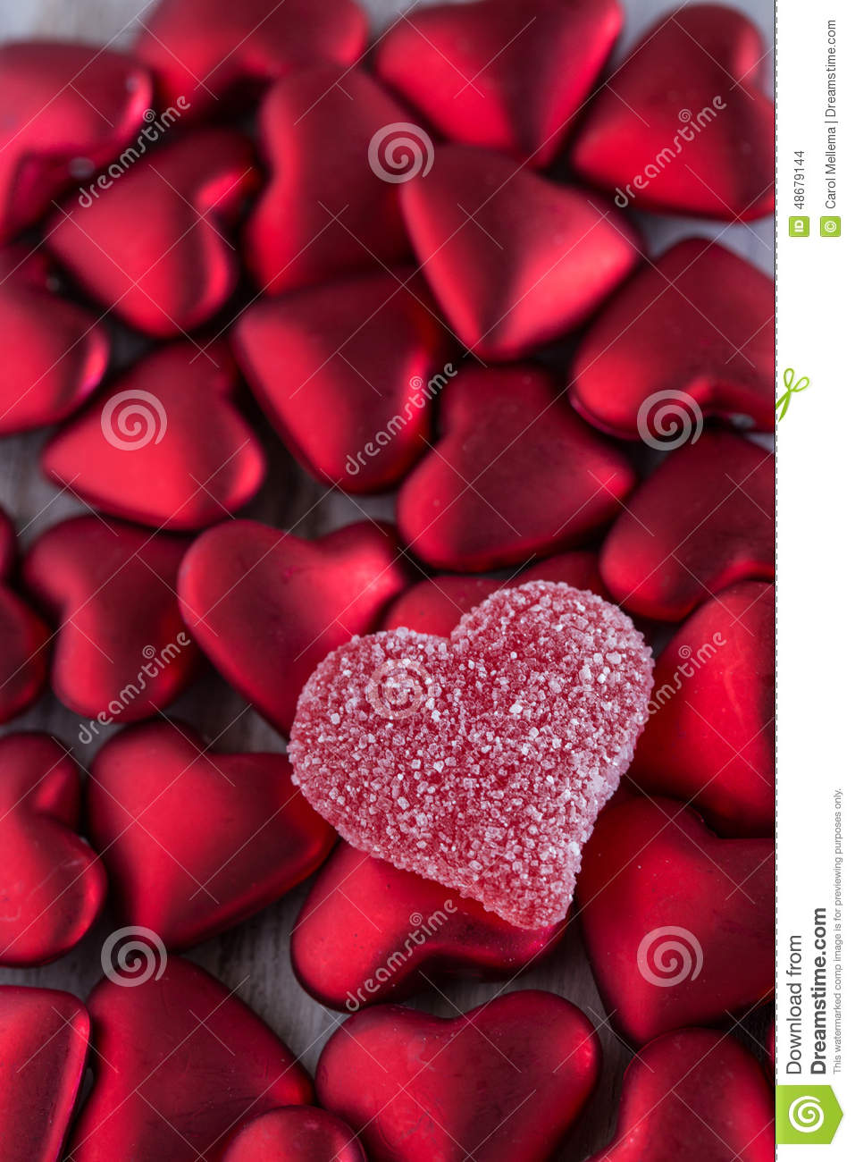 Valentines Day Candy Heart Love Symbol Sweet Red Stock Photo Image