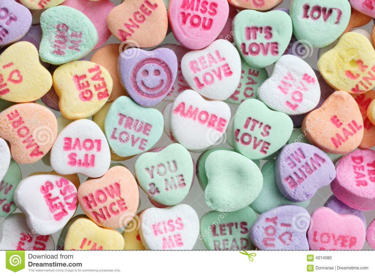 Valentines Day Candy Hearts Stock Photo - Image: 4014080