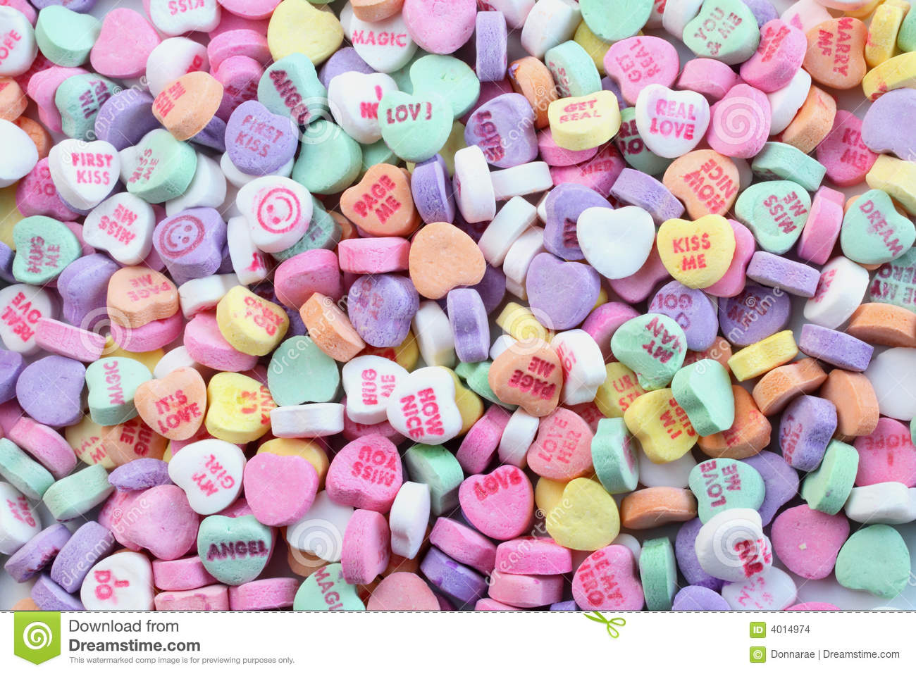Valentines Day Candy Hearts Stock Photo 4014974 Megapixl