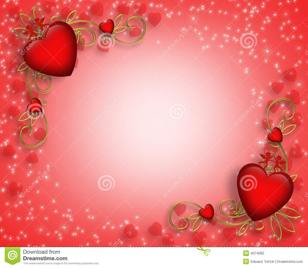 Valentines Day Card Border Or Background Stock Photography - Image ...