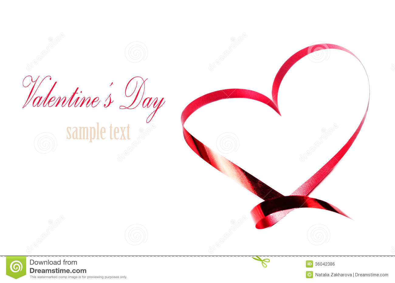 Valentines Day Card With Copyspace Abstract Heart Made Of Red R