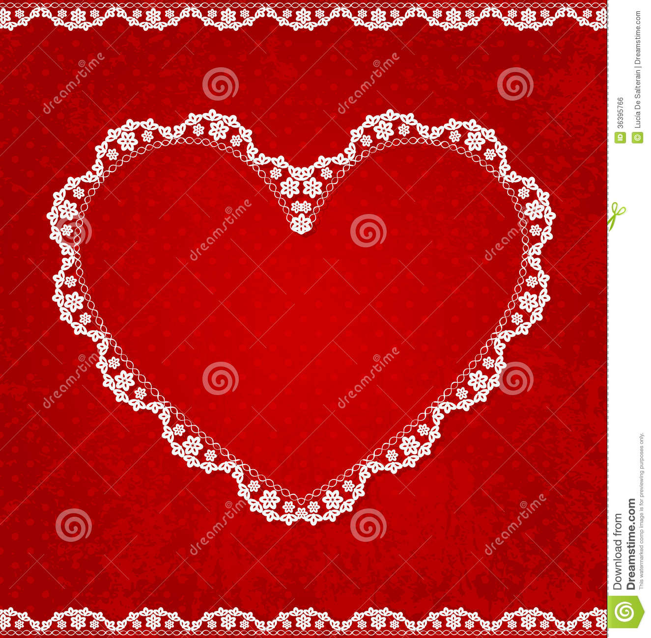 Valentines Day Vintage Lace Card With Heart And Place For Text – Valentines Day Heart Card
