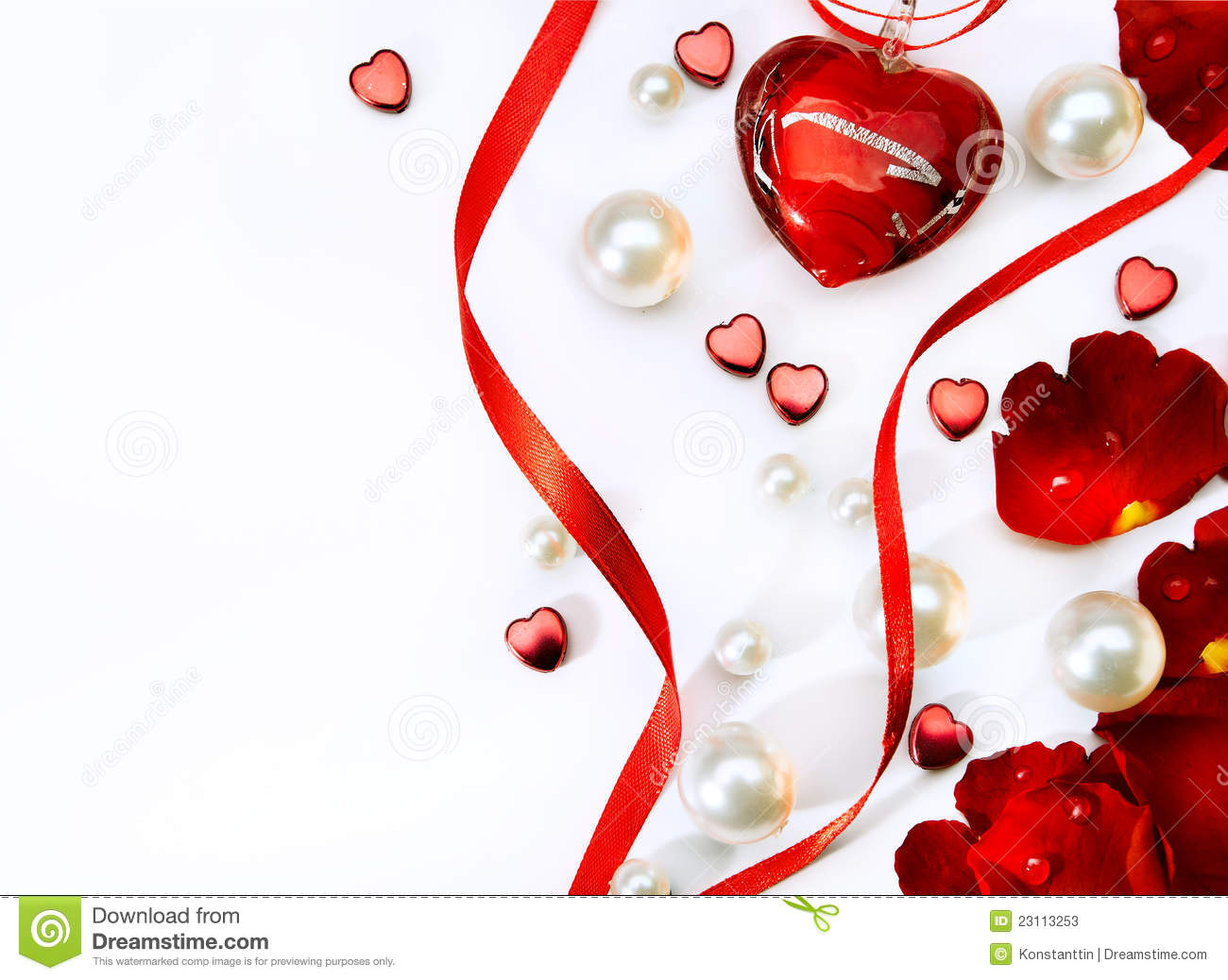 Valentines Day Card With Red Roses And Haer Stock Image Image Of