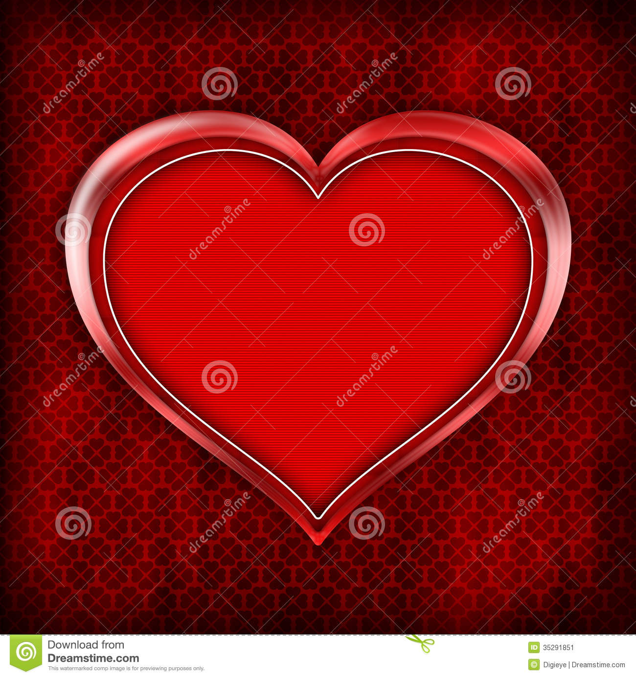 Valentines Day Card Template Stock Image - Image: 35291851