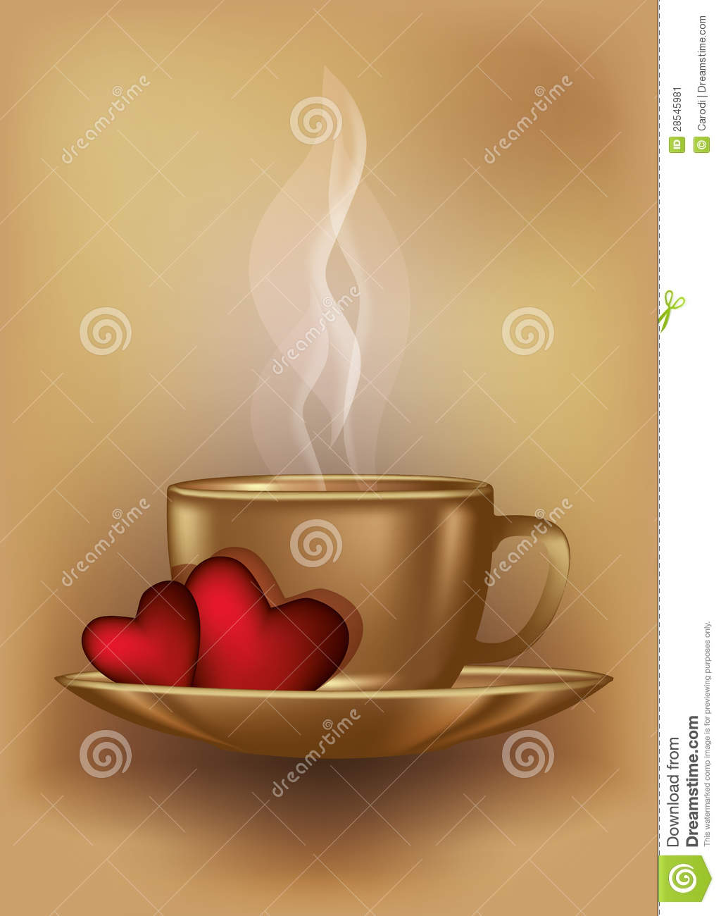 Valentines day coffee card stock vector. Illustration of ...