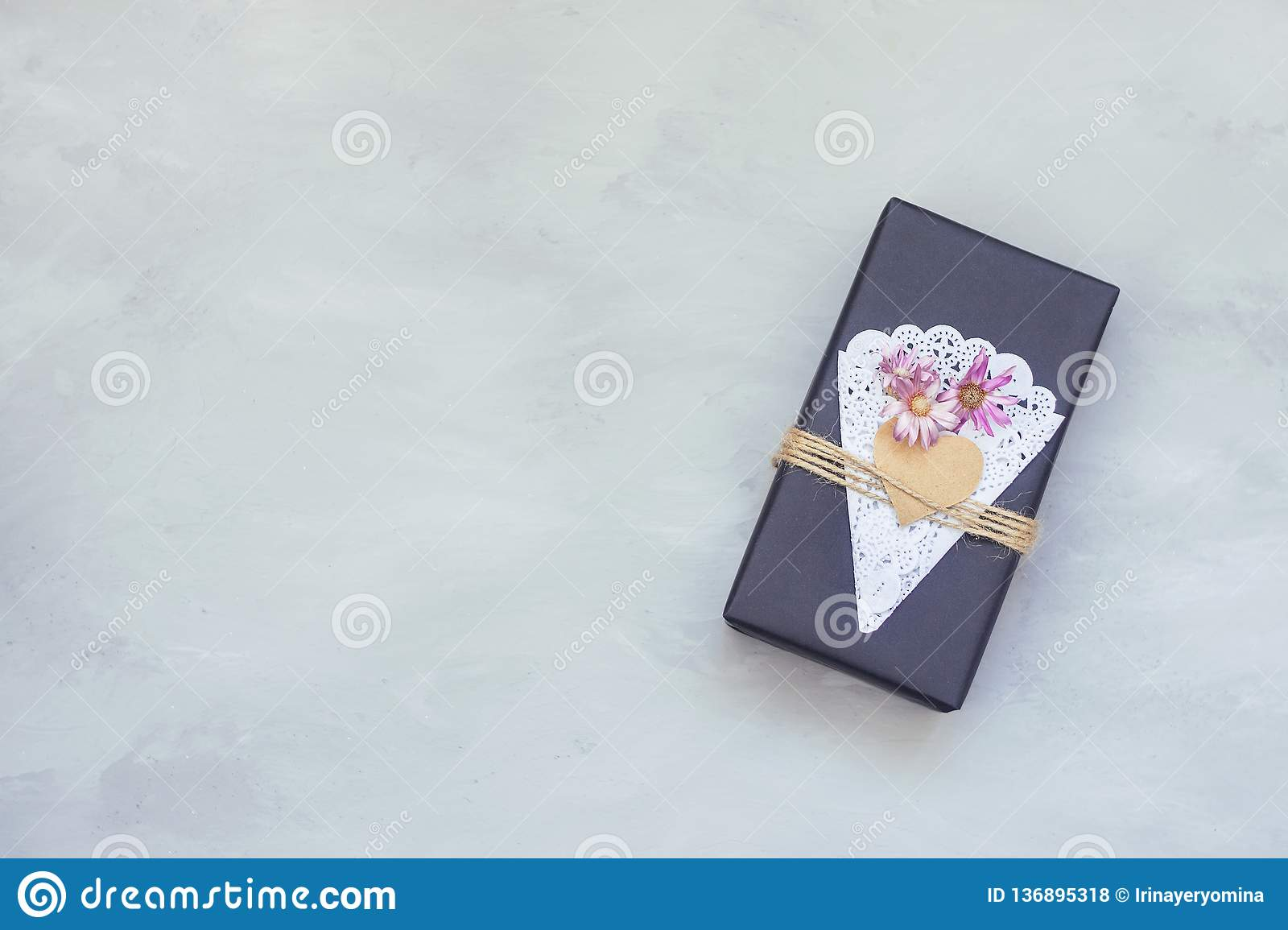 Valentines Day Gift Box Ideas Black Paper Present Box With Heart