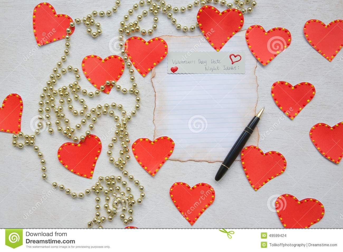 Valentines Day Date Night Ideas Stock Photo Image Of Single