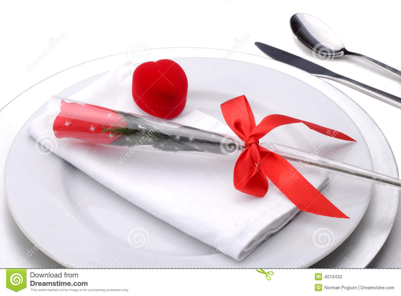 Valentines Day Dinner Stock Photography Image 4010432