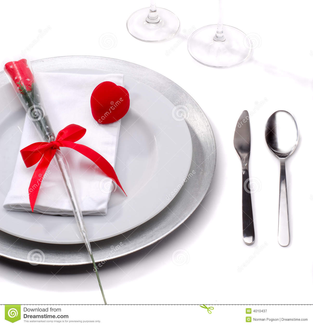 Valentines Day Dinners: Valentines Day Dinner Royalty Free Stock Photography