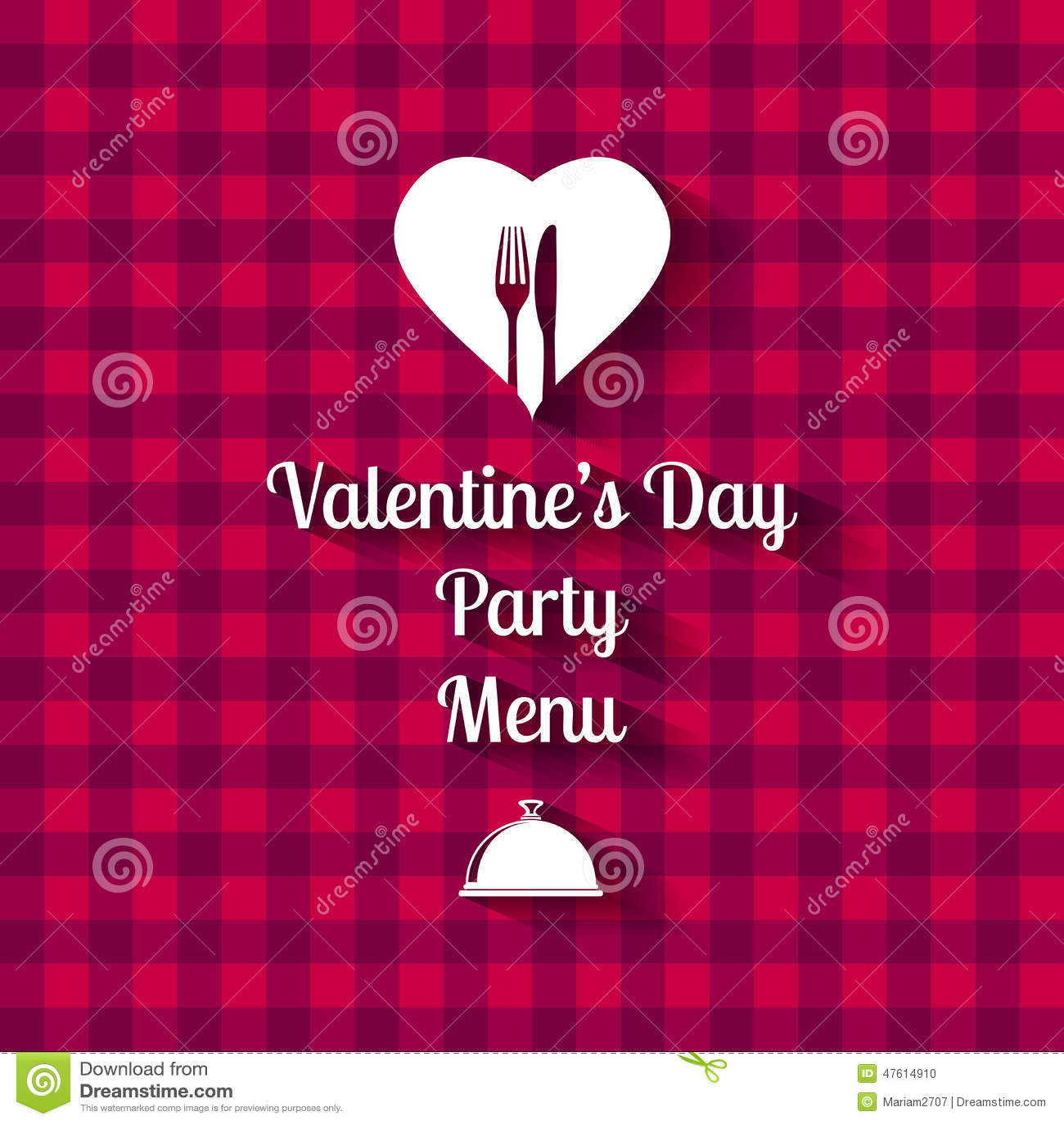 Valentines Day Dinner Menu Card Stock Vector Illustration Of Dish