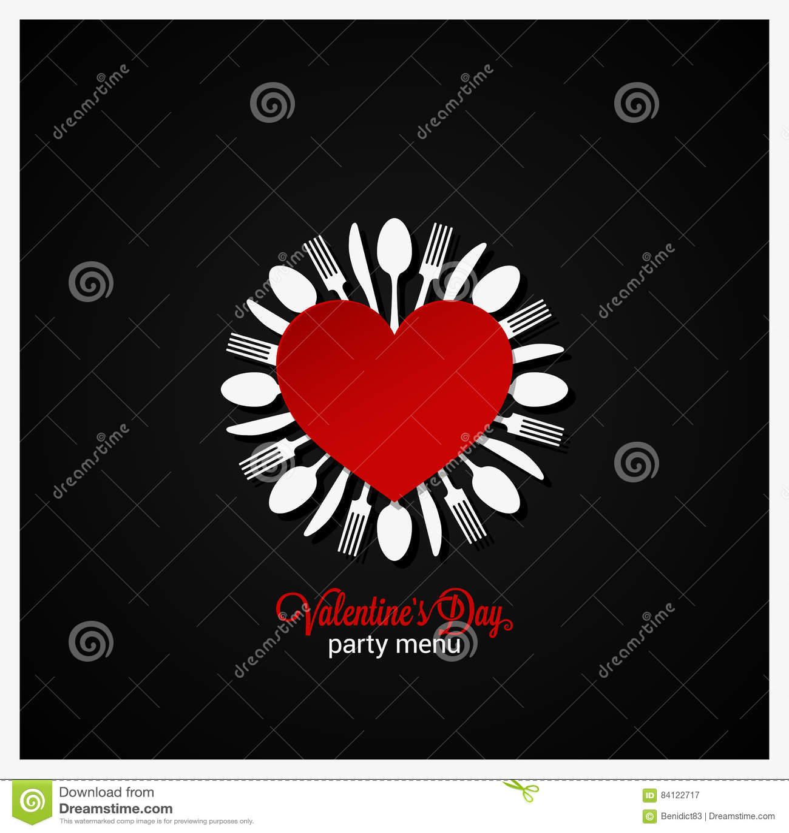 valentines day dinner menu design background stock vector