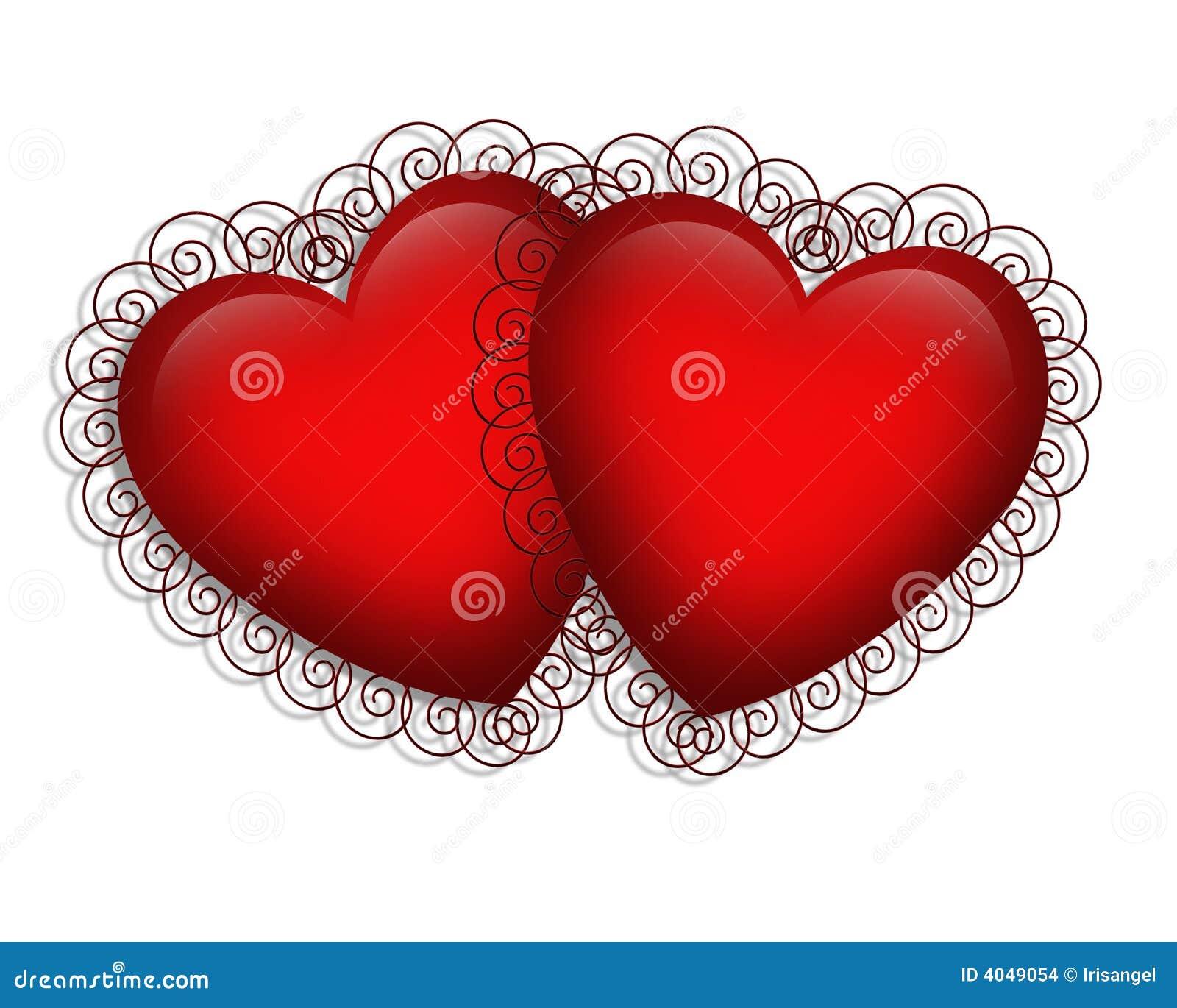 Valentines Day Fancy Hearts Stock Illustration Illustration Of