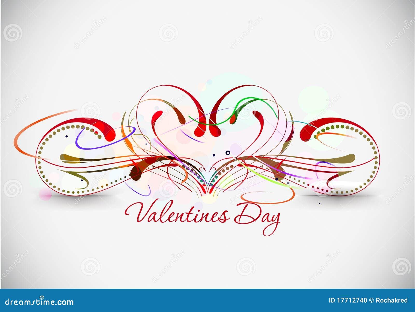 Valentines Day Floral Design Stock Vector Illustration Of