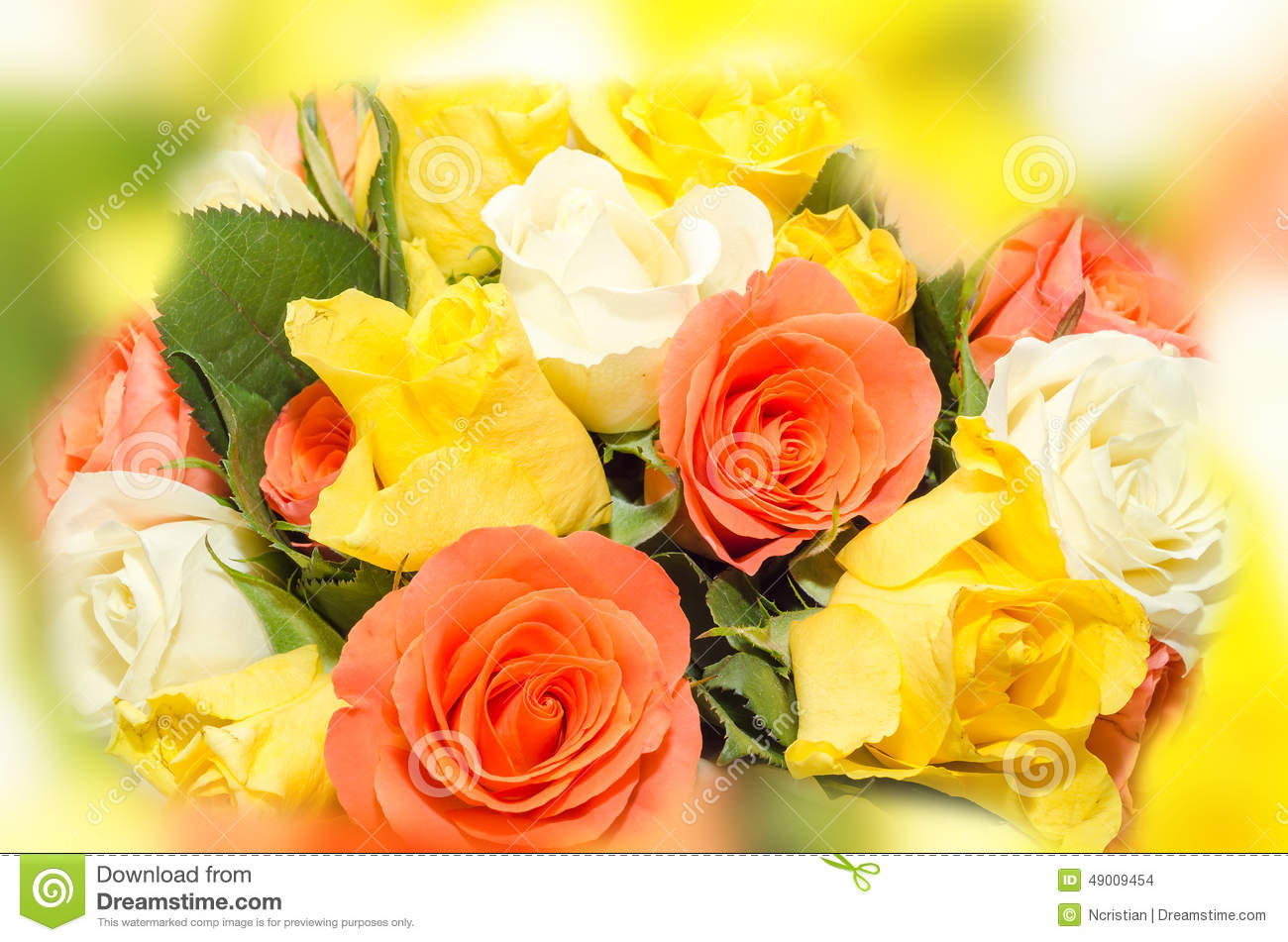Valentines day flowers with white orange red and yellow roses valentines day flowers with white orange red and yellow roses flowers isolated beauty mightylinksfo