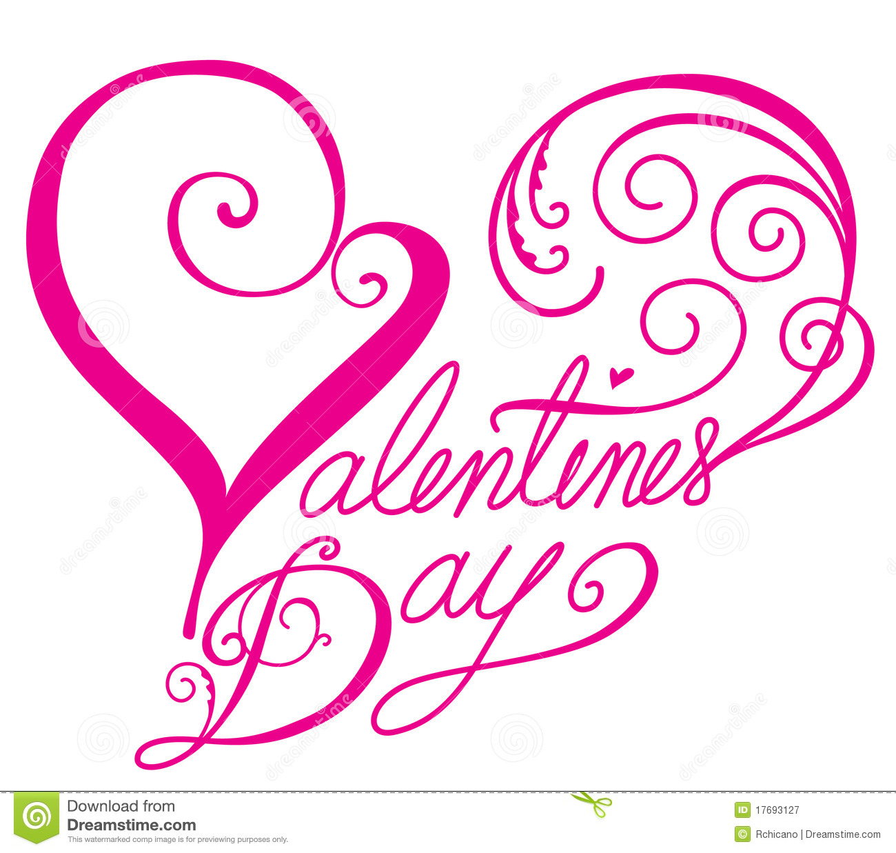 Valentines Day Font In Heart Shape Stock Vector Illustration Of