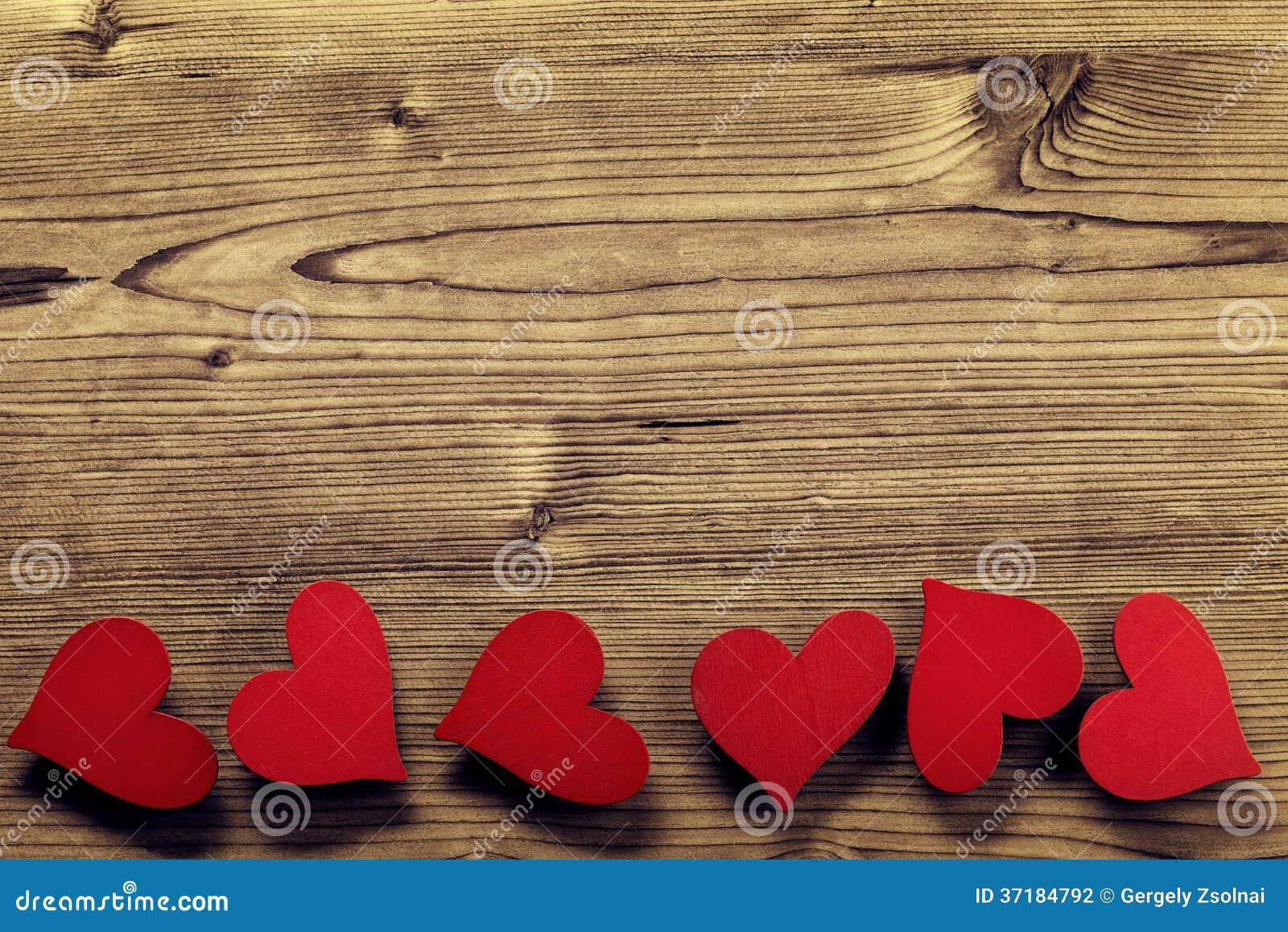 Valentines Day Frame - Wood Background Stock Photo - Image of ...