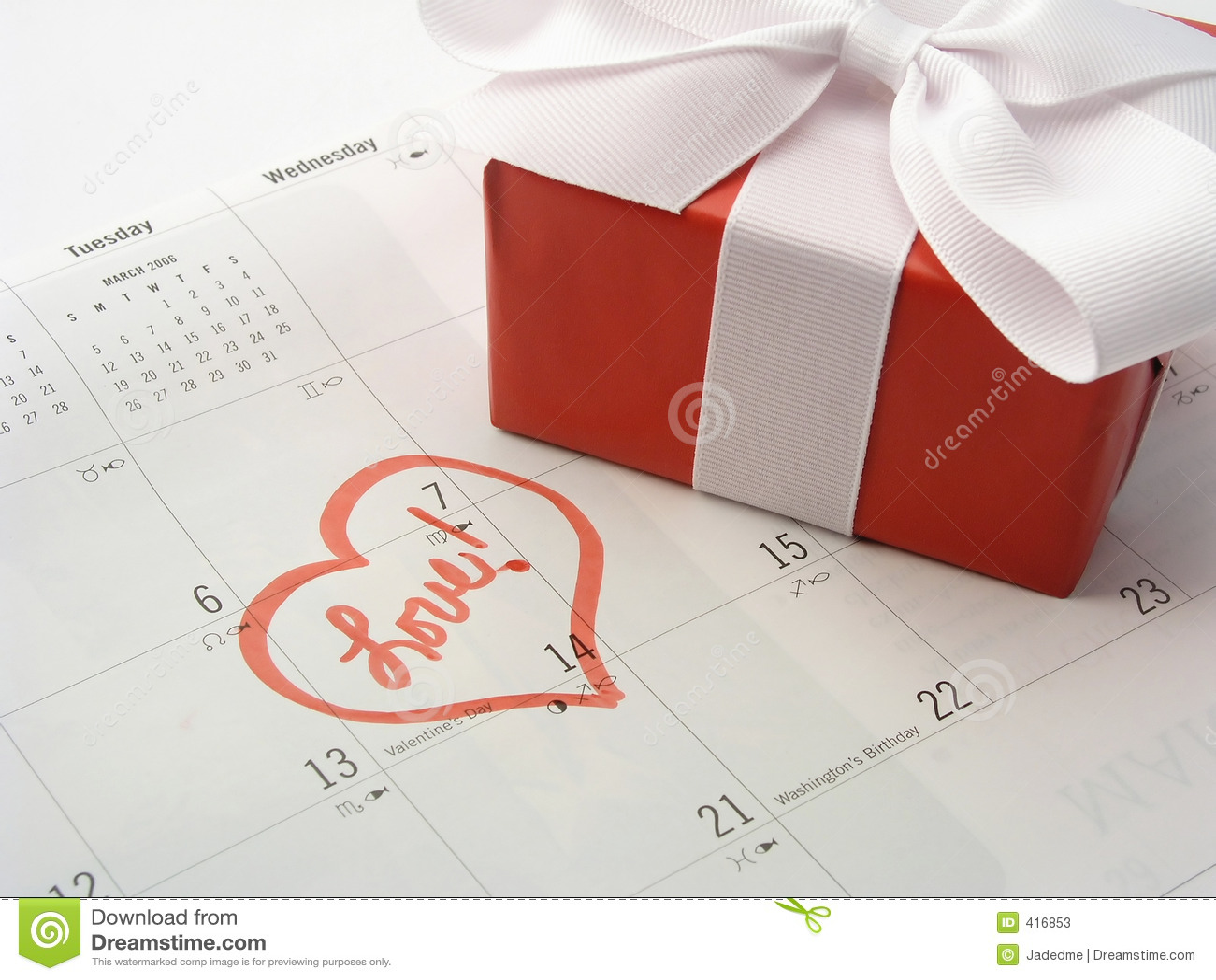 Valentines Day Gift Stock Image Image Of Symbols
