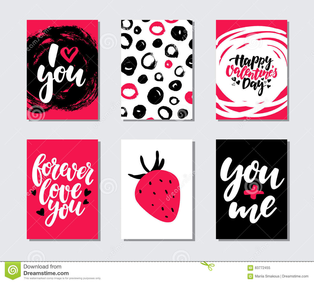 photo regarding Valentine Templates Printable known as Valentines Working day Present Card Vector Established. Hand Drawn Printable