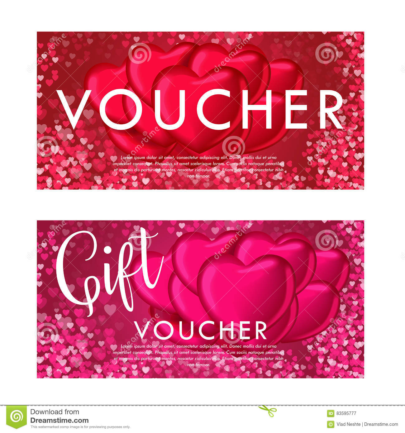 Valentines day gift card voucher template on beautiful background royalty free vector download valentines day gift card voucher template yadclub Gallery