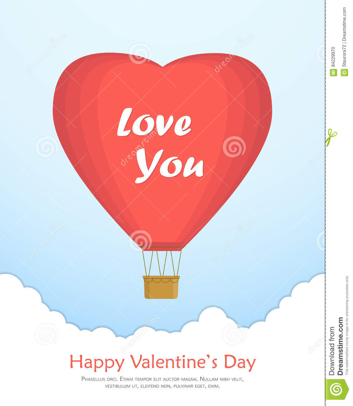 heart air balloons card shaped air balloon vector design s 4652