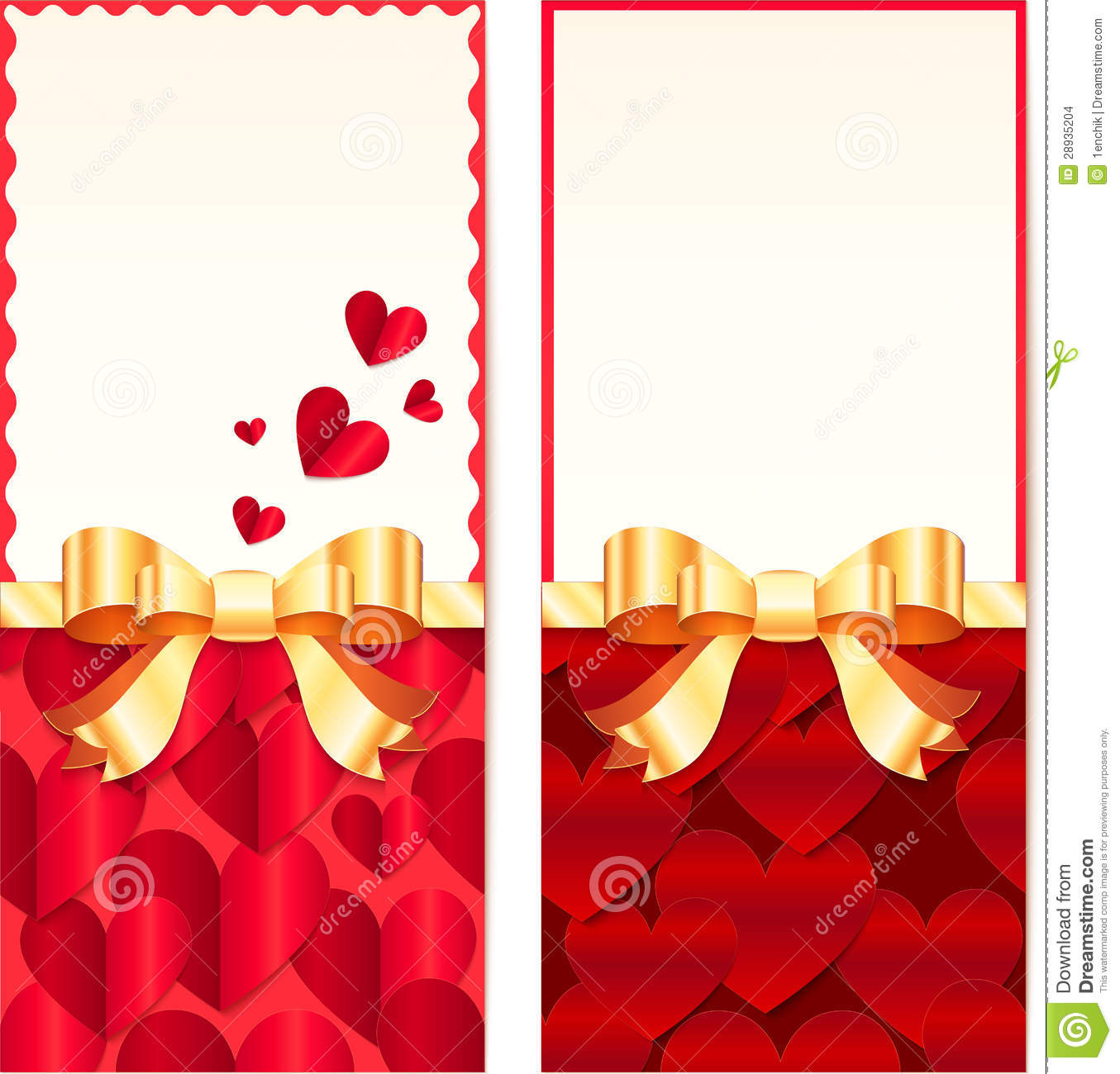 valentines day greeting cards templates stock illustration