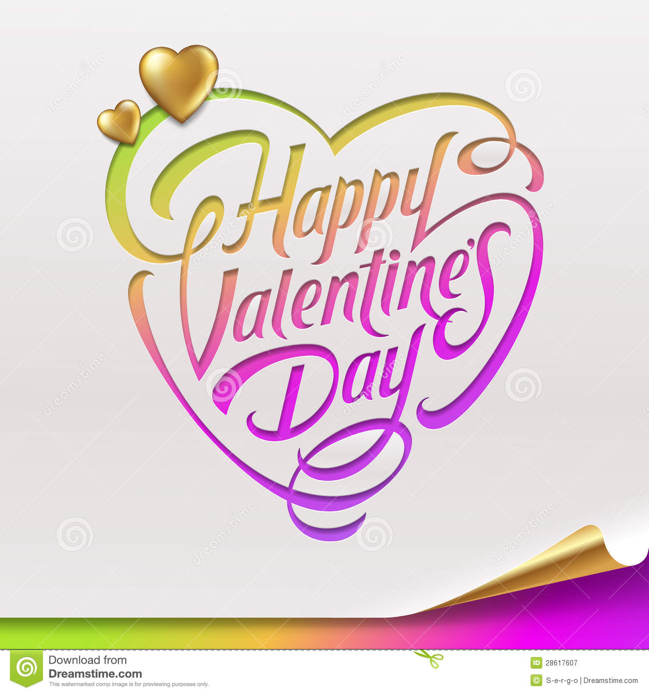 Valentines Day greeting sign