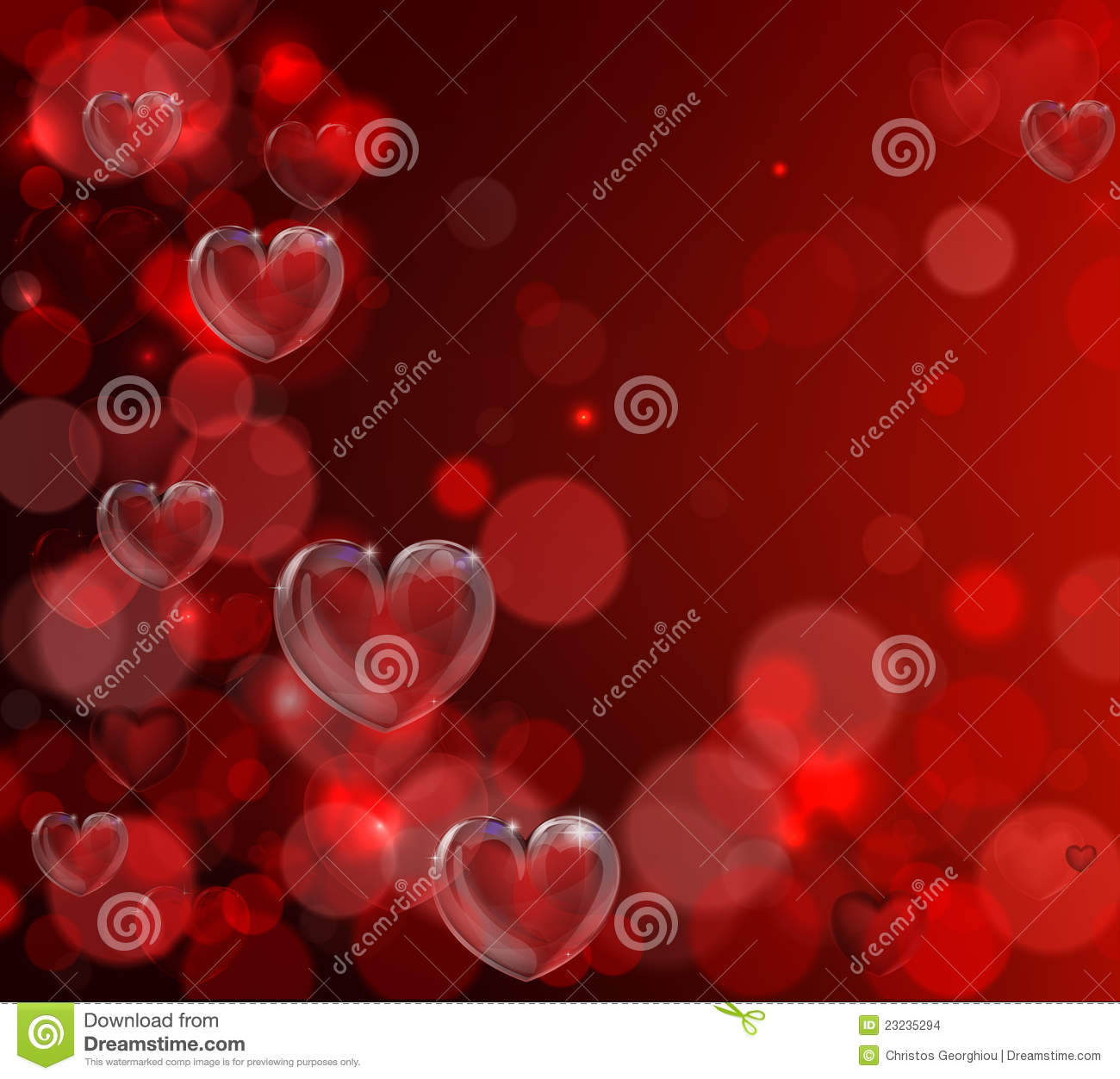 Valentines Day Heart Background Stock Vector Illustration Of Glass