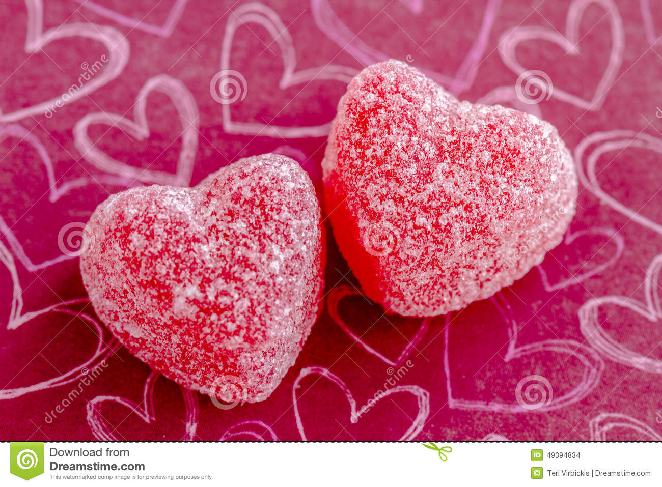 Valentines Day Heart Candy And Cookies Stock Photo Image Of