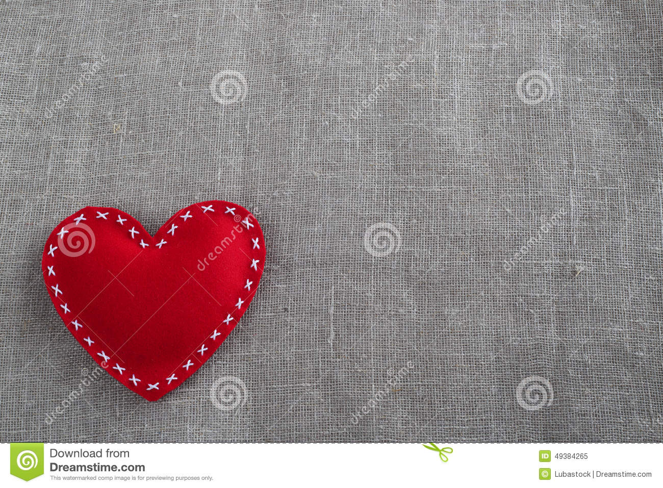 Valentines day heart stock image image of heart ribbon for Red space fabric