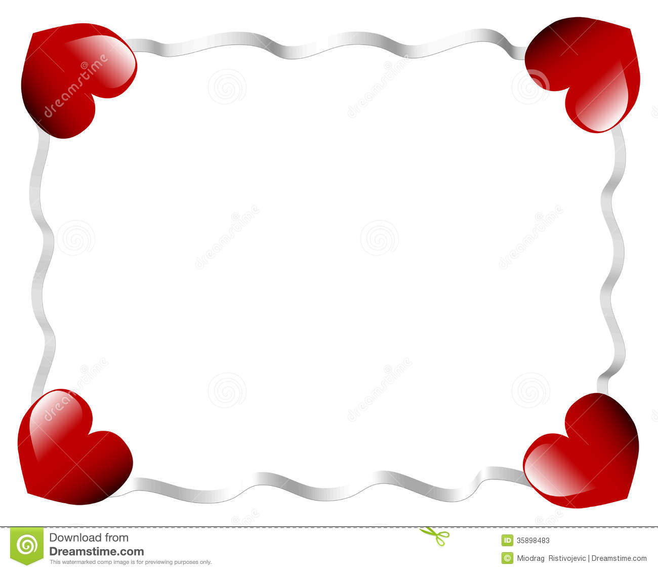 Stock Photos: Valentines day heart and ribbons. Image: 35898483