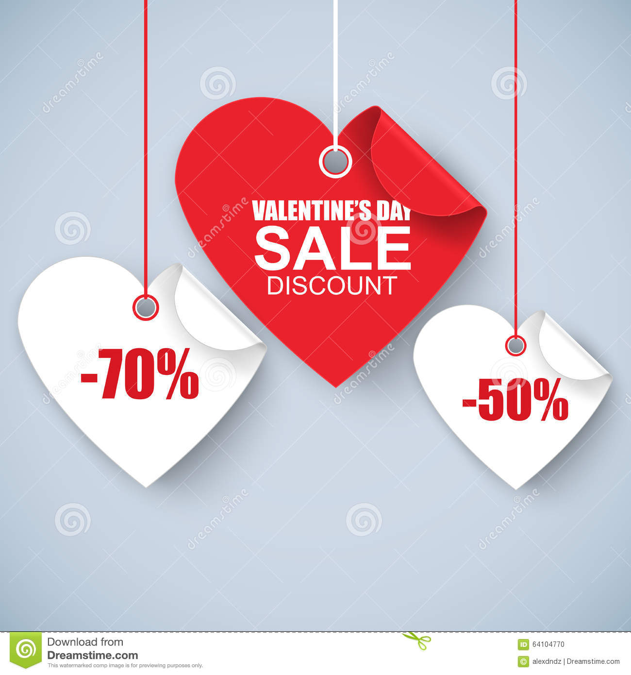 Valentines Day Heart Sale Tag Poster Template Vector – Sale Tag Template