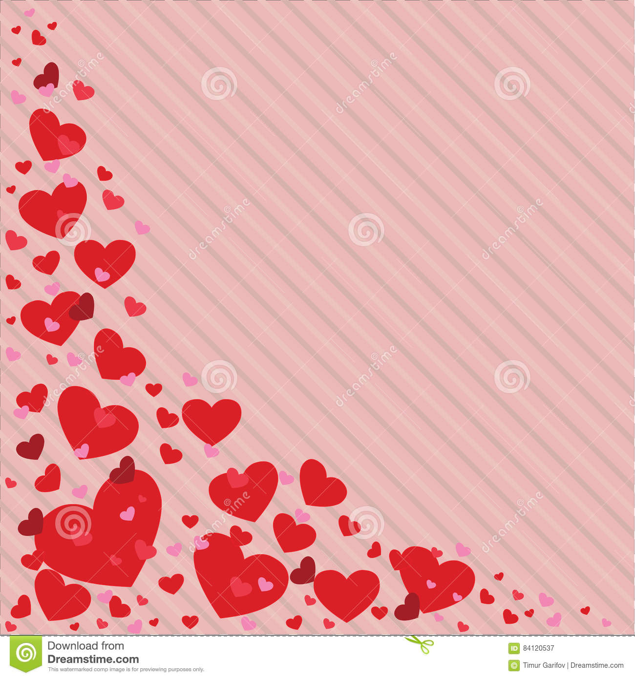 Valentines Day Heart Vector Illustration In Different Colors