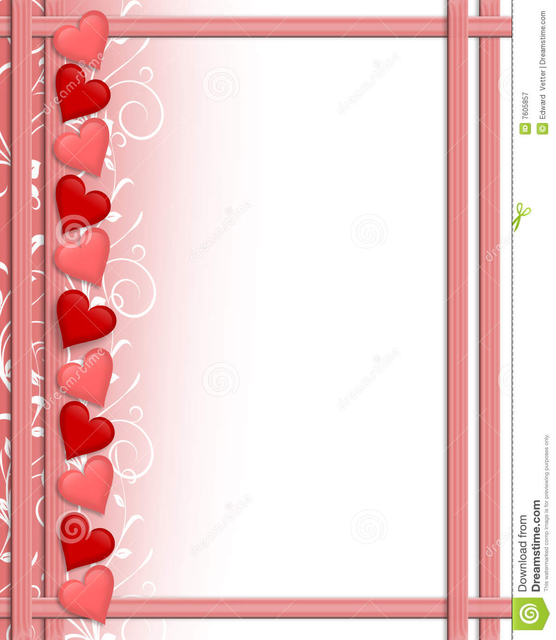Valentines Day Hearts Border Royalty Free Stock ...