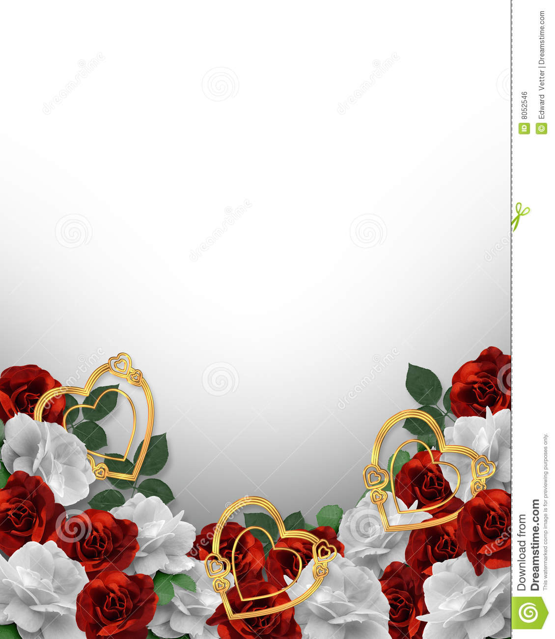 Valentines Day Hearts And Roses Border Royalty Free Stock Image ...