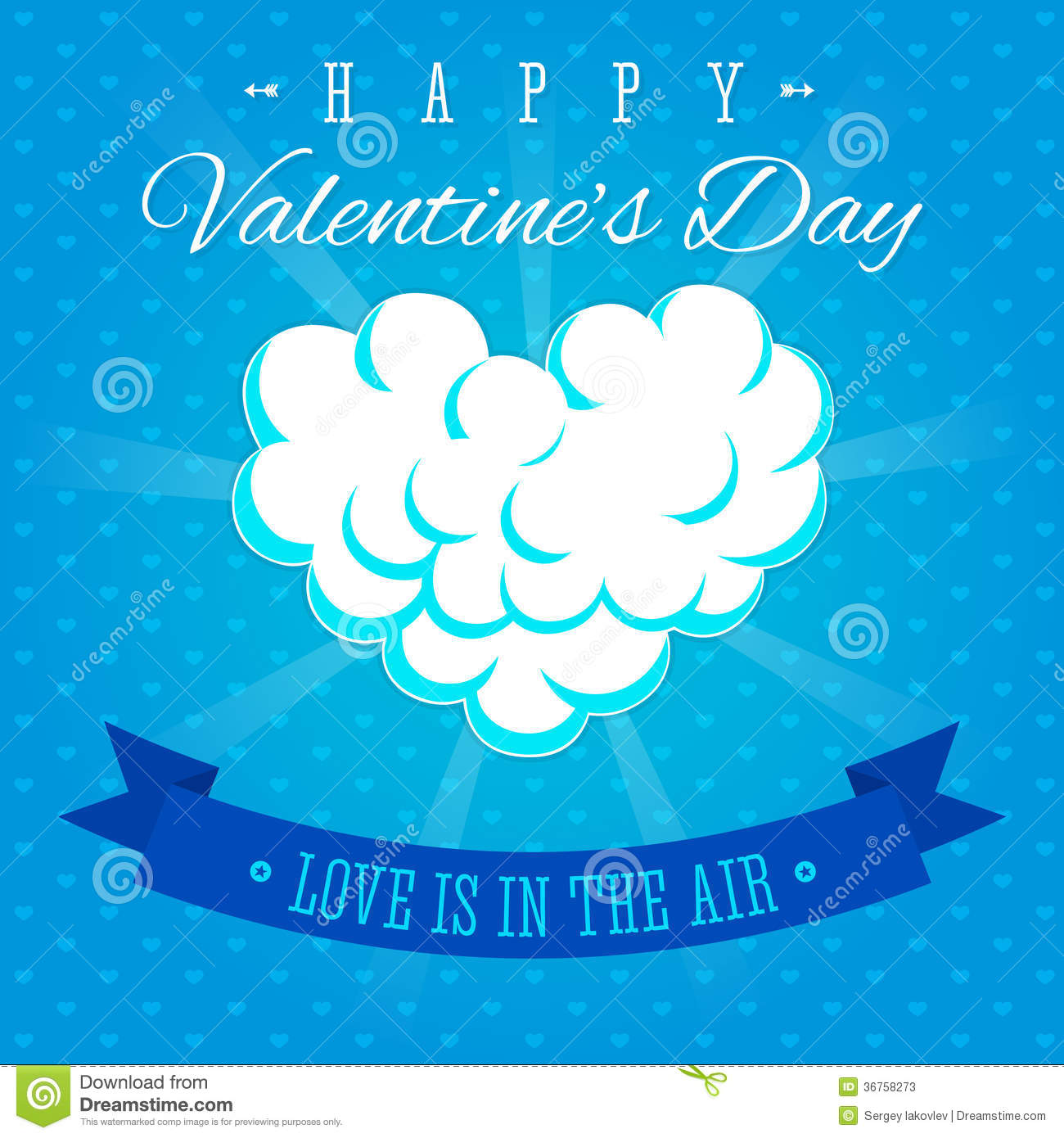 Valentines Day Love Is In The Air Greeting Card Stock ...