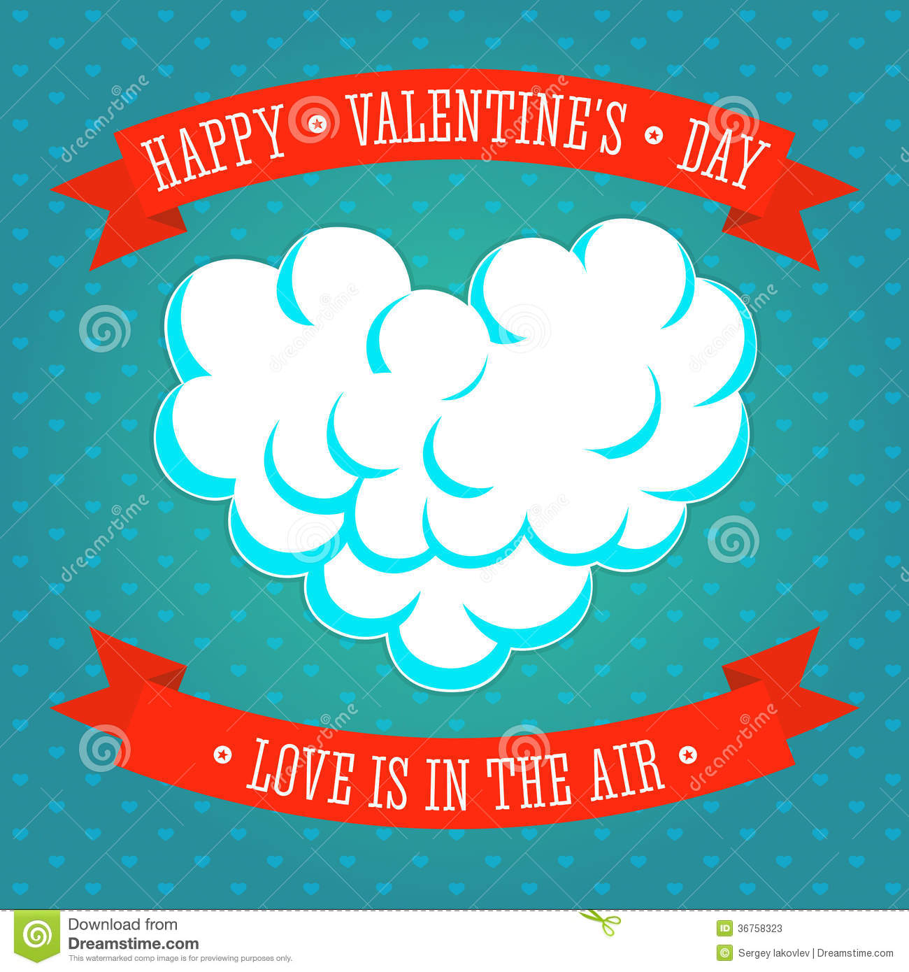 Valentines Day Love Is In The Air Greeting Card Stock Vector