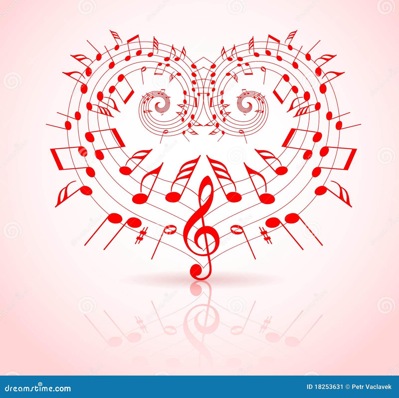 valentines day music theme stock illustration