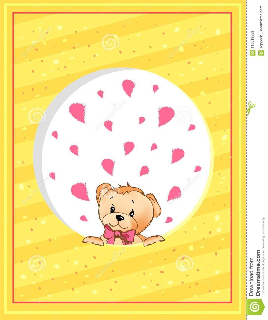 Valentines day postcard template with teddy bear stock vector download valentines day postcard template with teddy bear stock vector illustration of cartoon holiday maxwellsz