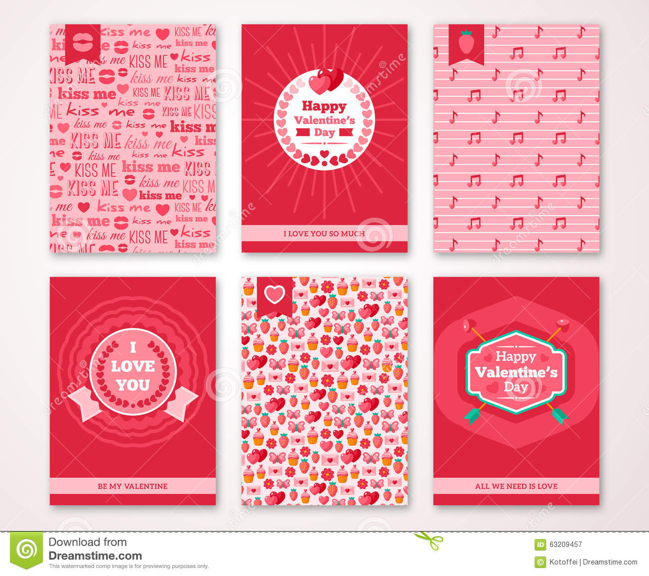Valentines Day Poster Banner Invitation Stock Vector