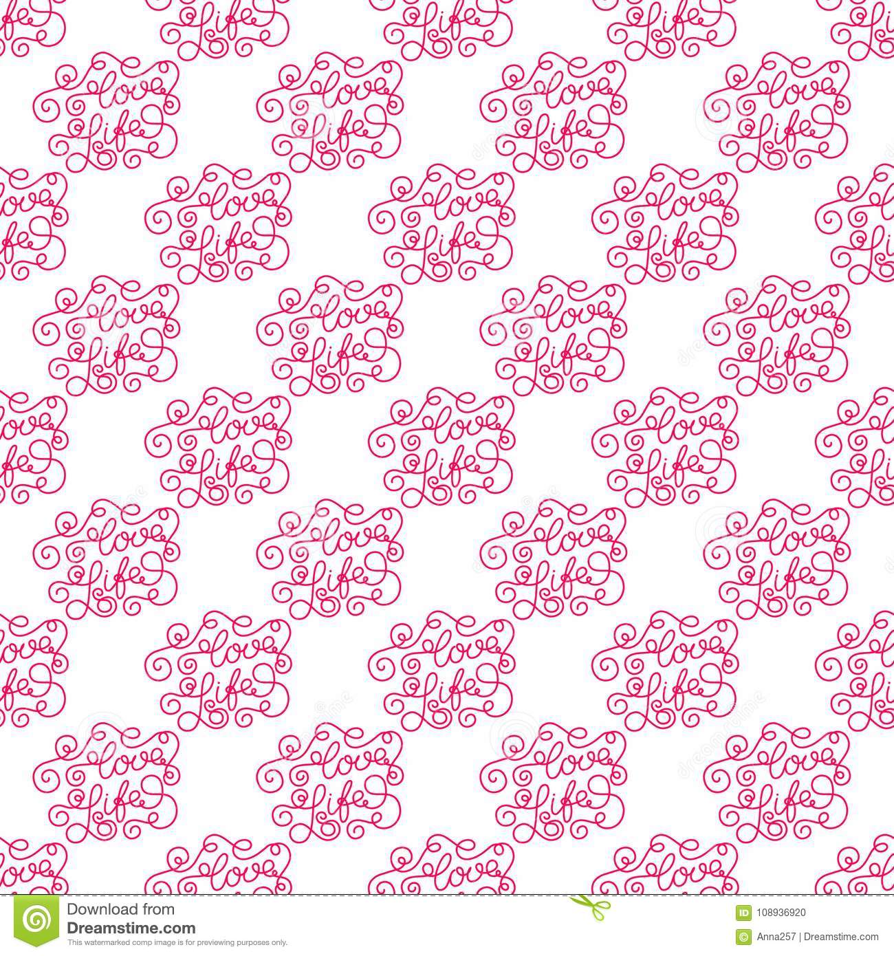 Valentines day romantic phrases seamless pattern background romantic phrases seamless pattern background template for a business card banner poster notebook present paper colourmoves Images