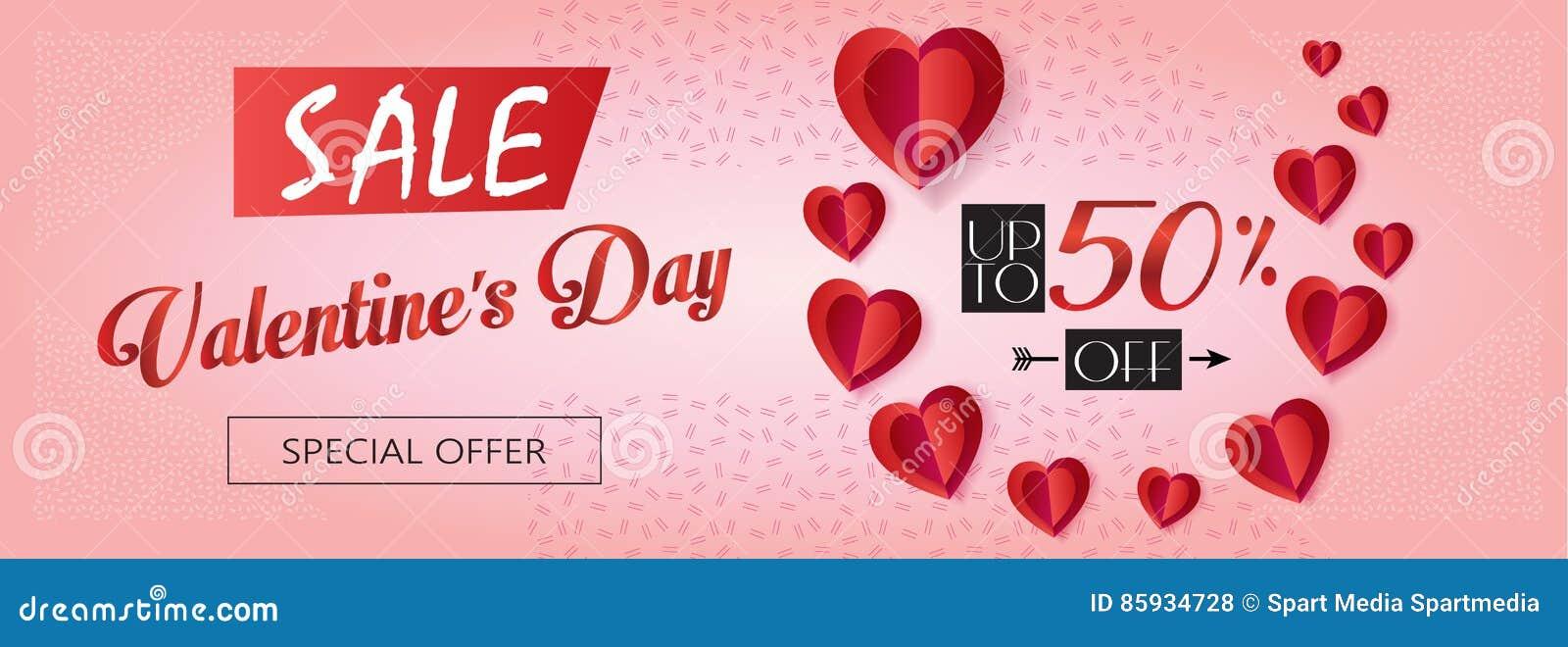 Valentines Day Sale 2019 Stock Vector Illustration Of Design 85934728