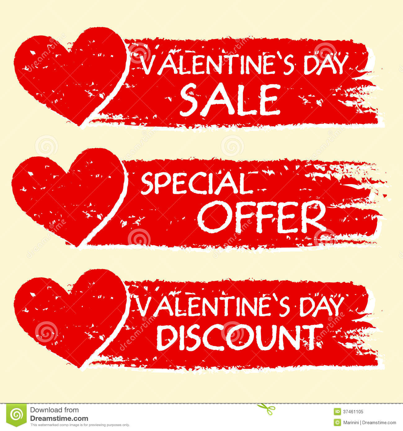 Großartig Valentines Day Sale And Discount, Special Offer With Hearts In R  Illustration 37461105   Megapixl