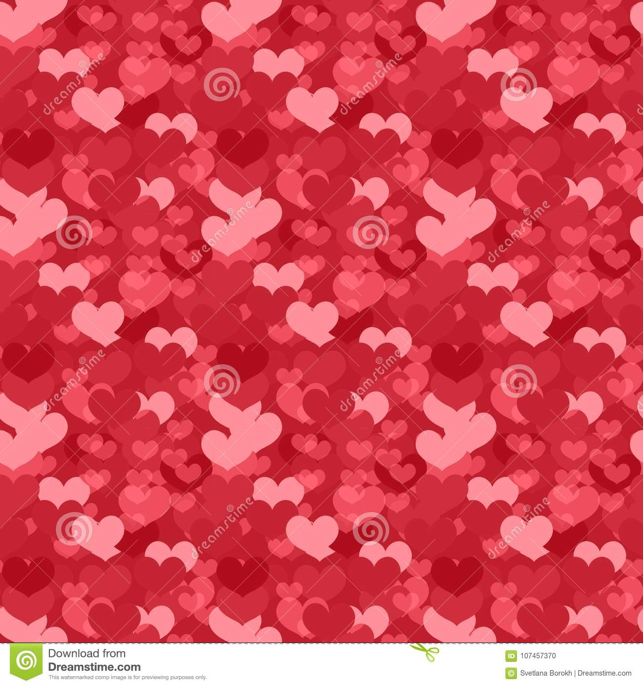 Valentines Day Seamless Pattern Heart Endless Background Romance Love Repeating Texture Holiday