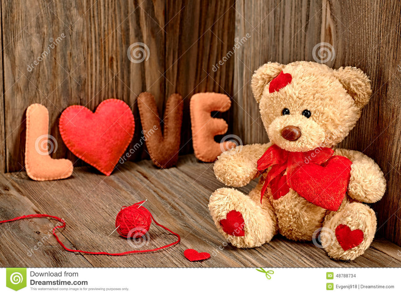 Valentines day teddy bear lovehearts word love stock photo download comp altavistaventures Images