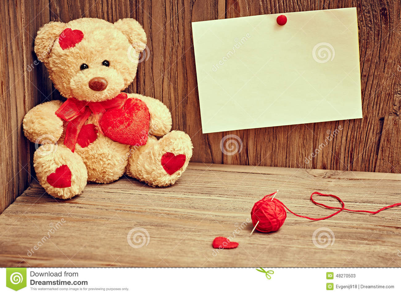 Valentines day teddy bear loving alone note stock image image download comp altavistaventures Images