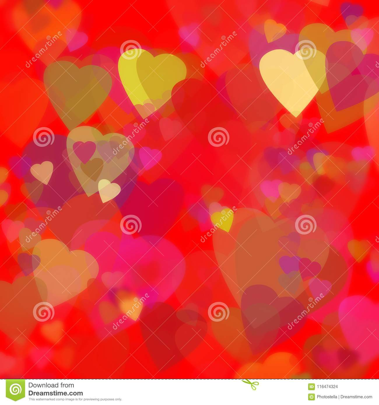 Valentines Day Theme Love Card Red Background Stock Illustration