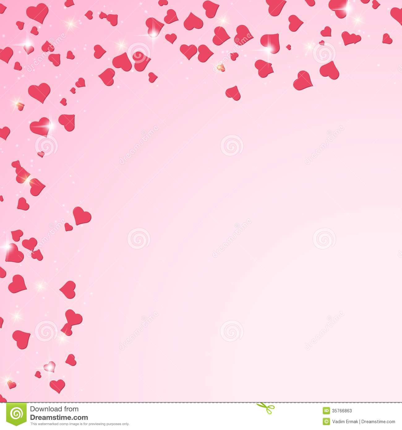 Valentines Day Vector Background Stock Vector Illustration Of