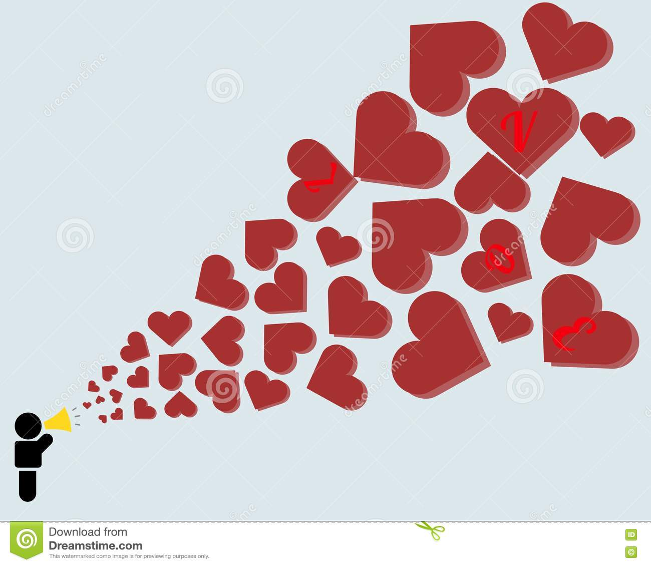 Valentines Day Wallpaper Background Stock Illustration