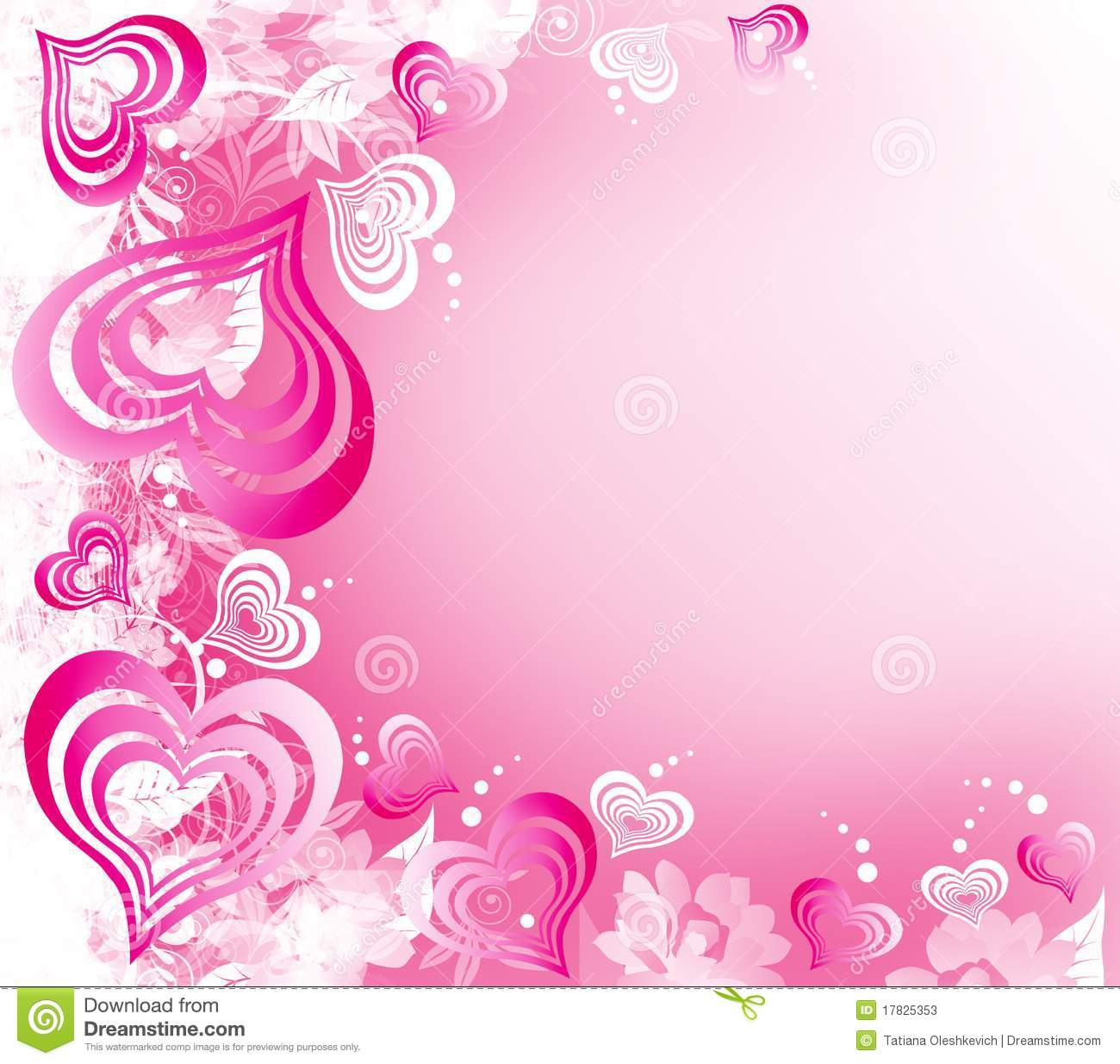 Valentines day white pink background with hearts stock - Pink roses and hearts wallpaper ...