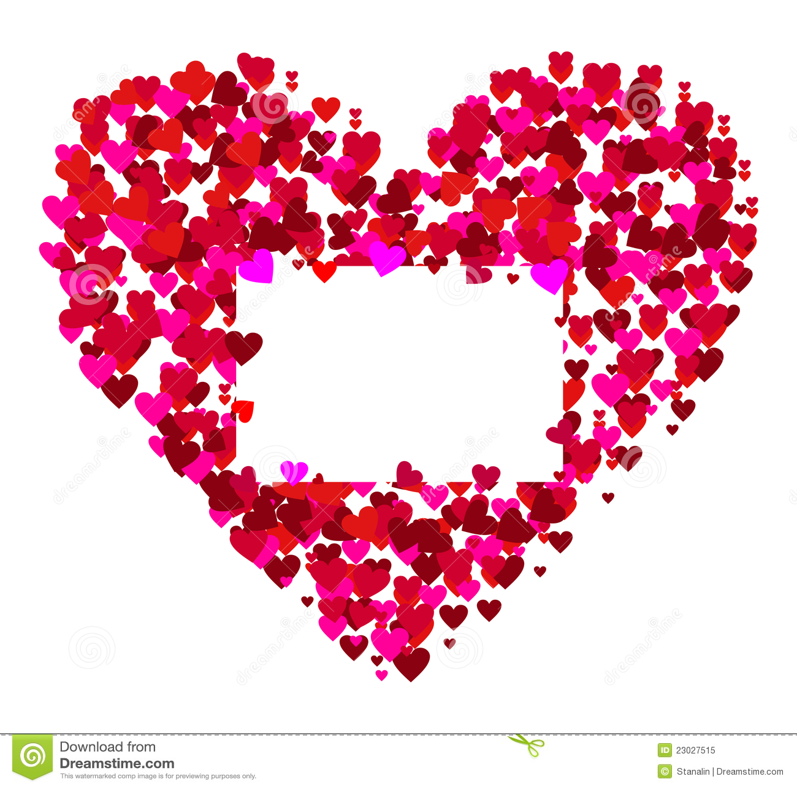 Valentines frame - vector stock vector. Illustration of card - 23027515